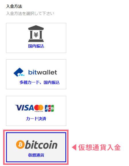 ザオプションにビットコインで入金する手順