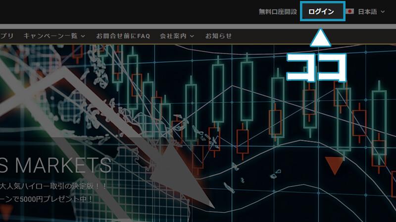 ファイブスターズマーケッツログインパソコン