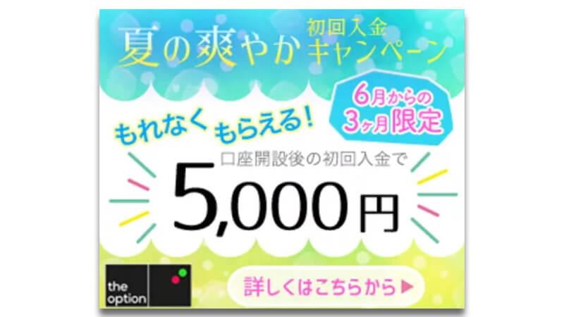 ザオプション初回入金campaign