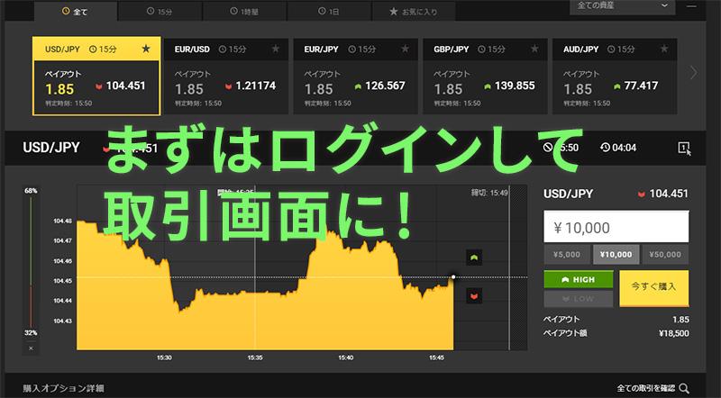 ハイローオーストラリア(ハイロードットコム)転売ログイン画面